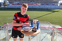 Monday 27th January 2020 | Ulster Schools' Cup Draw<br /> <br /> Rainey Endowed captain Joel Bell at the draw for the Ulster Schools' Bowl Quarter Finals held at Kingspan Stadium, Ravenhill Park, Belfast, Northern Ireland. Fixtures to be played on or before 8 Feb 2020. Photo credit - John Dickson DICKSONDIGITAL