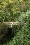 Pont sur le sentier entre Corniglia et Vernazza. Parc national des Cinque Terre. Ligurie. Italie.