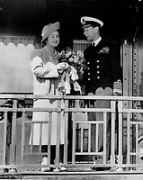 La visite du Roi George VI au Canada en 1939.<br /> <br /> <br /> <br /> <br /> <br /> La visite du Roi George VI au Canada en 1939.<br /> <br /> <br /> <br /> <br /> <br /> Arrival and departure were the greatest moments in every centre their majesties visited; from Quebec to Victoria and back across a continent. But louder than ever were the cheers that greeted the King and Queen as they first appeared on the train platform entering Halifax; for this was their last arrival before their final departure from Canada.<br /> <br /> <br /> [unknown]<br /> Picture, 1939, <br /> <br /> PHOTO : Toronto Star Archives - AQP