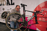 prepping the TT-bike<br /> <br /> Stage 5 (TTT): Cockermouth to Whinlatter Pass (14km)<br /> 15th Ovo Energy Tour of Britain 2018