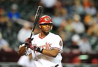 Aug. 30, 2010; Phoenix, AZ, USA; Arizona Diamondbacks outfielder Justin Upton against the San Diego Padres at Chase Field. Mandatory Credit: Mark J. Rebilas-