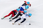 Victor An of Russia being followed during the Short Track Speed Skating as part of the 2014 Sochi Olympic Winter Games at Iceberg Skating Palace on February 10, 2014 in Sochi, Russia. Photo by Victor Fraile / Power Sport Images