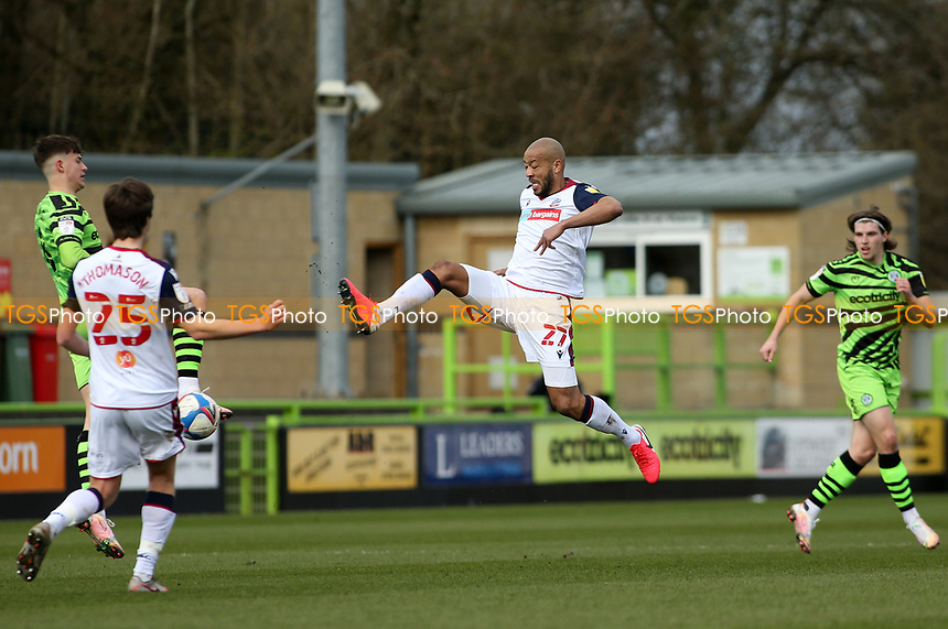 Bolton Wanderers's Alex Baptiste during Forest Green Rovers vs Bolton Wanderers, Sky Bet EFL League 2 Football at The New Lawn on 27th March 2021