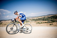 defending champion Julian Alaphilippe (FRA/Deceuninck - QuickStep)<br /> <br /> 14th Strade Bianche 2020<br /> Siena > Siena: 184km (ITALY)<br /> <br /> delayed 2020 (summer!) edition because of the Covid19 pandemic > 1st post-Covid19 World Tour race after all races worldwide were cancelled in march 2020 by the UCI