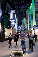 Moscow, Russia, 12/03/2011..Saturday afternoon shoppers look at Robert De Niro's Hollywood star in Vegas, the largest shopping mall in Russia, built by Crocus International, a real estate development company owned and run by Aras Agalarov and his son Emin.