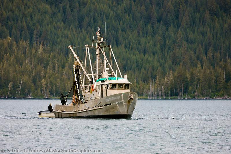 Commercial l Seine fishing vessel Kodiak Sockeye in College Fjord, Prince William Sound, southcentral, Alaska.