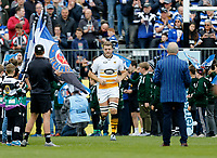 Photo: Richard Lane/Richard Lane Photography. Bath Rugby v Wasps. Gallagher Premiership. 05/05/2019. Wasps' Joie Launchbury leads the team out.