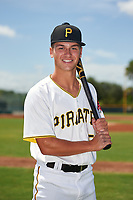GCL Pirates Sammy Siani (5) poses for a photo before a Gulf Coast League game against the GCL Red Sox on August 1, 2019 at Pirate City in Bradenton, Florida.  GCL Red Sox defeated the GCL Pirates 11-3.  (Mike Janes/Four Seam Images)