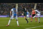 Leganes Diego Rico shooting  vs Real Madrid during Copa del Rey  match. A quarter of final go. 20180118.