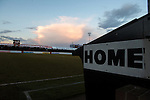 Dagenham and Redbridge 1 Burton Albion 3, 21/02/2015. Victoria Road, League Two. The home team dugout area. Burton Albion moved to the top of League Two following a hard-fought win over Dagenham & Redbridge played in-front of 1,718 supporters. Photo by Simon Gill.