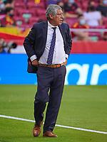 4th June 2021; Madrid, Spain International football friendly, Spain versus Portugal,  Portugal national team head coach Fernando Santduring the friendly match between Spain and Portugal played at Wanda Metropolitano Stadium