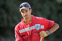 Pictured: Hellenic Red Cross volunteer worker Raphael Gerasklis at the farmhouse site in Kos, Greece. Monday 10 October 2016<br /> Re: Police teams led by South Yorkshire Police are searching for missing toddler Ben Needham on the Greek island of Kos.<br /> Ben, from Sheffield, was 21 months old when he disappeared on 24 July 1991 during a family holiday.<br /> Digging has begun at a new site after a fresh line of inquiry suggested he could have been crushed by a digger.