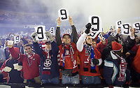 USA Fans hold up the #9 in honor of Charlie Davies during a 2-2 tie with Costa Rica to put the USA in first place of CONCACAF 2010 World Cup qualifying, at RFK Stadium, in Washington DC, Wednesday, October 14, 2009.