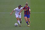 Liga IBERDROLA 2020-2021. Jornada: 18.<br /> FC Barcelona vs R. Madrid: 4-1.<br /> Kenti Robles vs Mariona Caldentey.