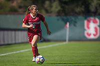 STANFORD, CA - October 21, 2018: Carly Malatskey at Laird Q. Cagan Stadium. No. 1 Stanford Cardinal defeated No. 15 Colorado Buffaloes 7-0 on Senior Day.
