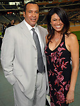 Larry Stokes and Lucy Noland at the Astros Wives Gala at Minute Maid Park Thursday July 31,2008. (Dave Rossman/For the Chronicle)