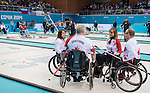Sonja Gaudet, Ina Forrest, Dennis Thiessen, and Jim Armstrong, Sochi 2014 - Wheelchair Curling // Curling en fauteuil roulant.<br />
