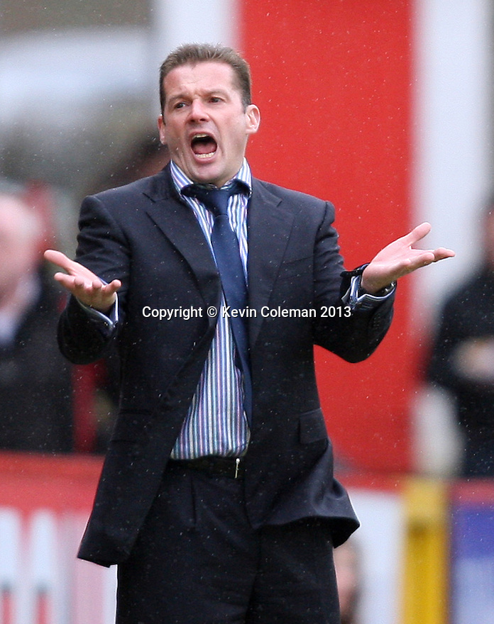 Stevenage manager Graham Westley. Stevenage v Yeovil Town- npower League 1 -  Lamex Stadium, Stevenage - 13th April, 2013. © Kevin Coleman 2013.. . . . .. . . .  . . .  .