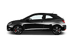 Car Driver side profile view of a 2016 Seat Ibiza-SC Cupra 5 Door Hatchback Side View
