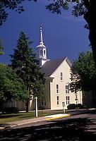 AJ2741, church, Moravians, Pennsylvania, Pennsylvania Dutch Country, The Moravian Church in the town of Lititz in the state of Pennsylvania.