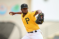 FCL Pirates Gold pitcher Darvin Garcia (32) during a game against the FCL Rays on July 26, 2021 at LECOM Park in Bradenton, Florida. (Mike Janes/Four Seam Images)
