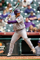 TCU Horned Frog DH Joe Weik against the Texas Tech Red Raiders on Friday March 5th, 2100 at the Astros College Classic in Houston's Minute Maid Park.  (Photo by Andrew Woolley / Four Seam Images)