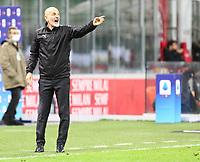 Milano 01-05 2021<br /> Stadio Giuseppe Meazza<br /> Serie A  Tim 2020/21<br /> Milan - Benevento<br /> Nella foto:  Stefano Pioli Allenatore Milan                                    <br /> Antonio Saia Kines Milano