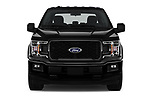 Car photography straight front view of a 2019 Ford F-150 XL-SuperCrew 2 Door Pick-up Front View