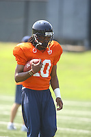 Virginia's Jameel Sewell during open spring practice for the Virginia Cavaliers football team August 7, 2009 at the University of Virginia in Charlottesville, VA. Photo/Andrew Shurtleff