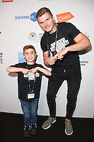 Jack Johnson and Owen Farrell<br /> on the trading floor for the BGC Charity Day 2016, Canary Wharf, London.<br /> <br /> <br /> ©Ash Knotek  D3152  12/09/2016