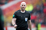 Aberdeen v St Johnstone…31.03.18…  Pittodrie    SPFL<br />Referee Bobby Madden<br />Picture by Graeme Hart. <br />Copyright Perthshire Picture Agency<br />Tel: 01738 623350  Mobile: 07990 594431