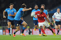 Noa Nakaitaci of France in action during Match 5 of the Rugby World Cup 2015 between France and Italy - 19/09/2015 - Twickenham Stadium, London <br /> Mandatory Credit: Rob Munro/Stewart Communications