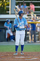Brandon Thomasson (66) of the Burlington Royals at bat against the Danville Braves at Burlington Athletic Park on August 13, 2015 in Burlington, North Carolina.  The Braves defeated the Royals 6-3. (Brian Westerholt/Four Seam Images)