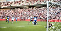 Sandy, Utah - June 18, 2013: Jozy Altidore scores against Honduras during a WC Qualifying match.