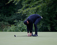 3rd July 2021; Mount Juliet Golf Club, Kilkenny, Ireland; Dubai Duty Free Irish Open Golf, Day Three; Rory Mcilroy of Northern Ireland reacts to a missed putt on the 4th green