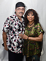"""MIRAMAR, FLORIDA - SEPTEMBER 03: Paul Lewis of Old Skool Gang and Deniece Williams poses for portrait backstage during """"Classically Yours"""" The Superstars of Soul & R&B at Miramar Regional Park Amphitheater on September 03, 2021 in Miramar, Florida.  ( Photo by Johnny Louis / jlnphotography.com )"""