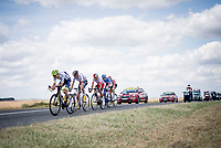 breakaway group with Stéphane Rossetto (FRA/Cofidis), Tim Wellens (BEL/Lotto-Soudal), Paul Ourselin (FRA/Total - Direct Energie), Yoann Offredo (FRA/Wanty-Gobert) & Anthony Delaplace (FRA/Arkéa - Samsic)<br /> <br /> Stage 3: Binche (BEL) to Épernay (FRA) (214km)<br /> 106th Tour de France 2019 (2.UWT)<br /> <br /> ©kramon