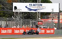 1st November 2020, Imola, Italy; FIA Formula 1 Grand Prix Emilia Romagna, Race Day; 44 Lewis Hamilton GBR, Mercedes-AMG Petronas Formula One Team takes the win and chequered flag