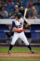 Syracuse Chiefs left fielder Andrew Stevenson (2) squares around to bunt during a game against the Scranton/Wilkes-Barre RailRiders on June 14, 2018 at NBT Bank Stadium in Syracuse, New York.  Scranton/Wilkes-Barre defeated Syracuse 9-5.  (Mike Janes/Four Seam Images)