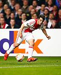 Nederland, Amsterdam, 5 november 2015<br /> Europa League<br /> Seizoen 2015-2016<br /> Ajax-Fenerbahce (0-0)<br /> Amin Younes van Ajax in actie met bal
