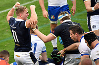 Duhan van der Merwe ad Jonny Gray of Scotland celebrate after a try of thei team during the rugby Autumn Nations Cup's match between Italy and Scotland at Stadio Artemio Franchi on November 14, 2020 in Florence, Italy. Photo Andrea Staccioli / Insidefoto