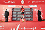 Race leader Tadej Pogacar (SLO) UAE Team Emirates wins Stage 3 and retains the Red Jersey of the 2021 UAE Tour running 166km from Al Ain to Jebel Hafeet, Abu Dhabi, UAE. 23rd February 2021.  <br /> Picture: LaPresse/Gian Mattia D'Alberto | Cyclefile<br /> <br /> All photos usage must carry mandatory copyright credit (© Cyclefile | LaPresse/Gian Mattia D'Alberto)