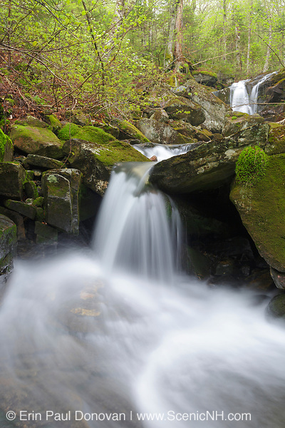 Stark Falls Brook in Woodstock, New Hampshire USA during the spring months.