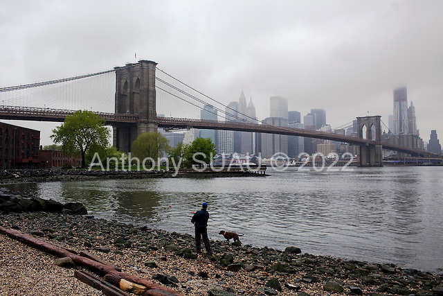 Brooklyn, New York<br /> April 25, 2010<br /> <br /> A rainy day in Dumbo looking at lower Manhattan.