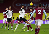 17th February 2021; Turf Moor, Burnley, Lanchashire, England; English Premier League Football, Burnley versus Fulham; Ruben Loftus-Cheek of Fulham competes for the ball with Josh Brownhill of Burnley