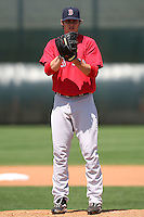March 18, 2010:  Pitcher Clay Buchholz (11) of the Boston Red Sox organization during Spring Training at Ft.  Myers Training Complex in Fort Myers, FL.  Photo By Mike Janes/Four Seam Images