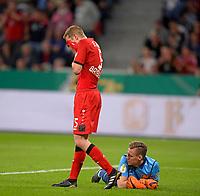 17.04.2018, Football DFB Pokal 2017/2018, semi final , Bayer Leverkusen - FC Bayern Muenchen, in BayArena Leverkusen. v.li: Sven Bender (Leverkusen) and goalkeeper Bernd Leno (Leverkusen) dejected   dem sechtsen  - goal Bayern. *** Local Caption *** © pixathlon<br /> <br /> Contact: +49-40-22 63 02 60 , info@pixathlon.de