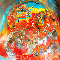 An abstract view of a glass with Vodka Tonic