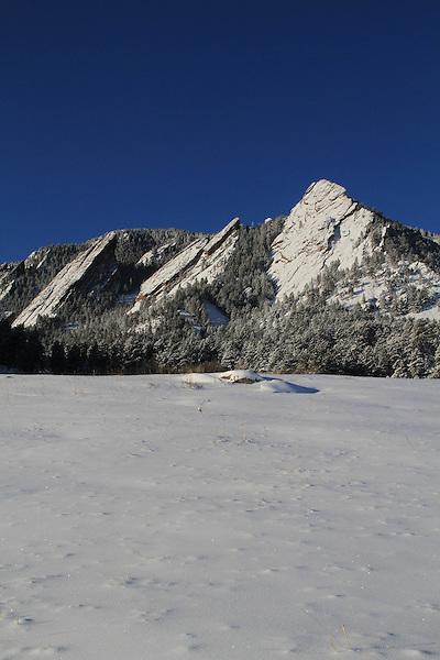 Snow at Chautauqua Park, Boulder, Colorado, USA .  John leads private photo tours in Boulder and throughout Colorado. Year-round Boulder photo tours.