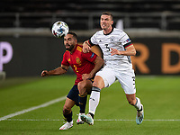 3rd September 2020; Stuttgart, Germany; UEFA Nations League football, Germany versus Spain; Daniel RamCarvajal Spain, and Robin Gosens of Germany